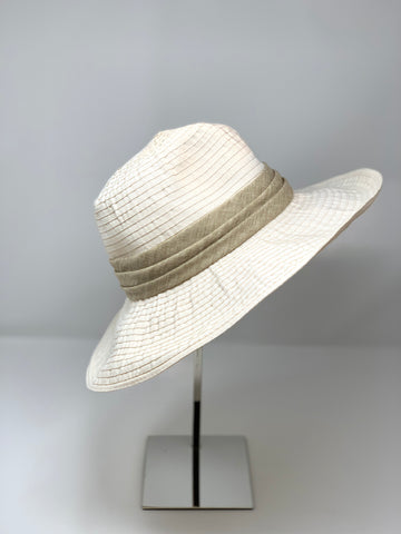 Wide Brim Flexible Fedora in Light Neutrals - Big Bag
