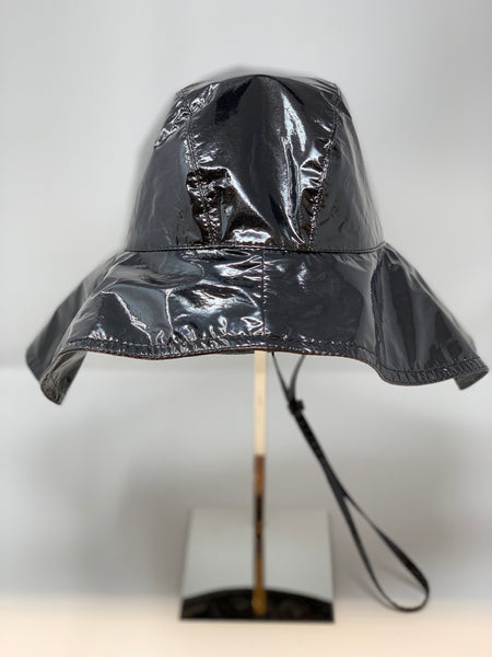 Glossy Oversized Drawstring Rain Hat - Big Bag