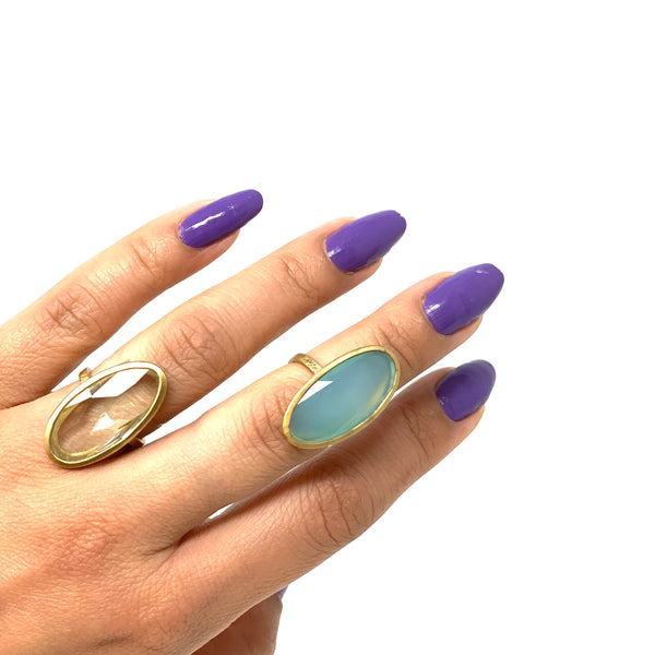 Ara Blue Chalcedony Ring - Big Bag