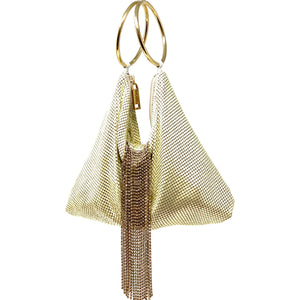 Triangle Mesh Cascade Bracelet Clutch - Big Bag