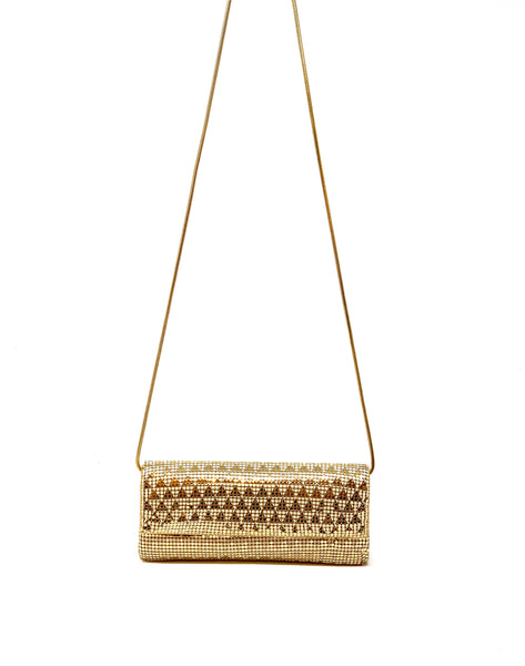 Deco Triangle Pyramid Mesh Clutch - Big Bag