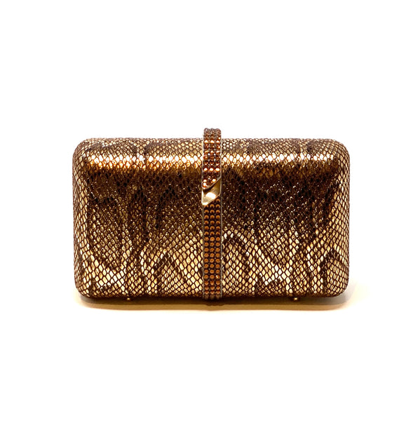 Bronze Snakeskin Clutch - Big Bag