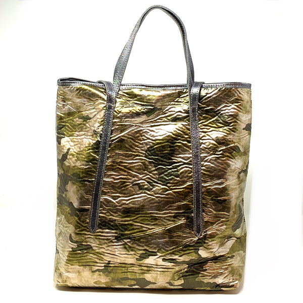 Large Metallic Camo Double Handle Tote