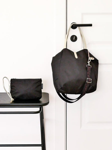 Brontibay Kit Crossbody Tote Black- Big Bag NY