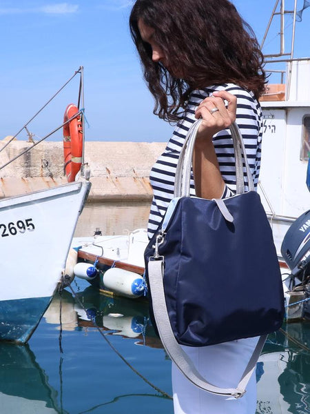 Brontibay Kit Crossbody Tote Bleu Nuit Navy- Big Bag NY