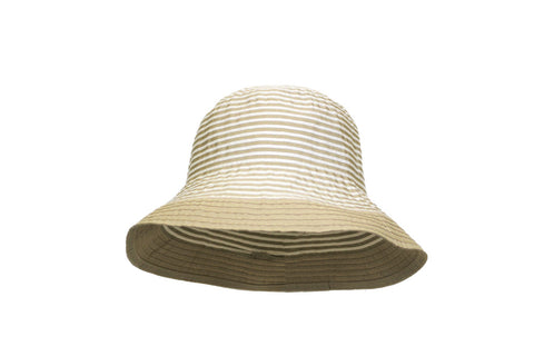 Foldable Stripe Bucket Hat
