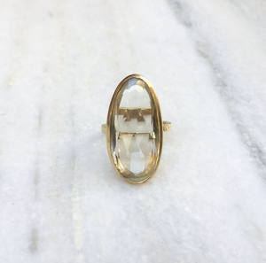 Ara Green Amethyst Ring - Big Bag
