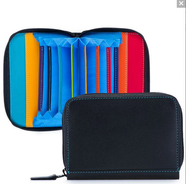 RFID-protected Zip Around Fan Credit Card Wallet