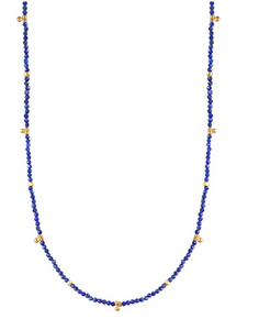 AVF Lapis Small Gold Charms Necklace