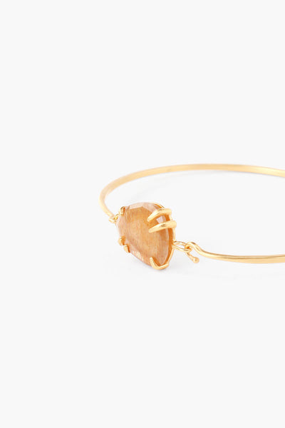 Gold Prong Bracelet with Framed Stone - Big Bag