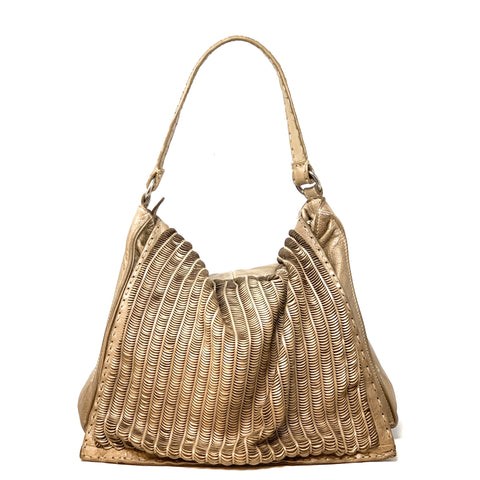 LUNE Flap Hobo with Moon Perforations - Big Bag