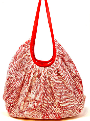 Floral Lace Trompe L'oiel shoulder tote - Big Bag