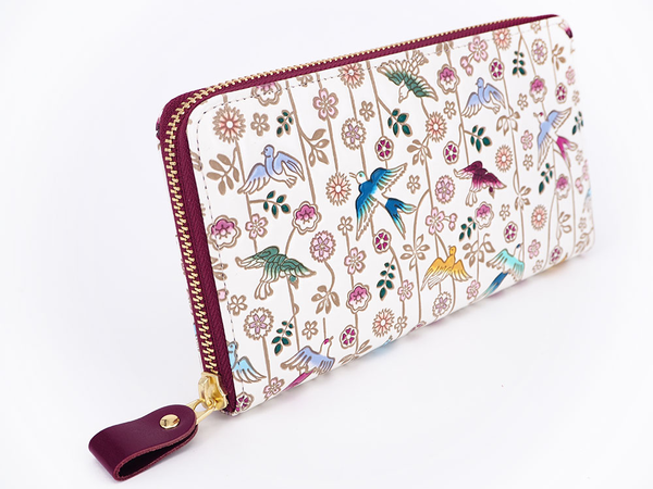 Birds in Paradise Long Zip Around Wallet - Big Bag