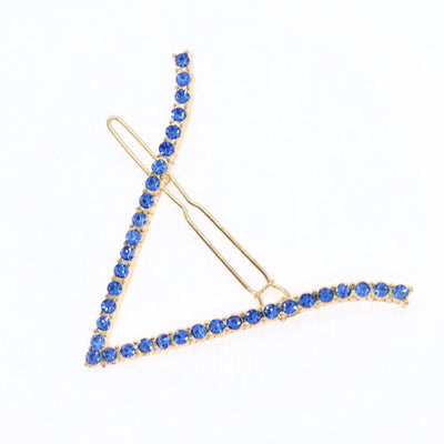 V Shaped Hairpin with rhinestones