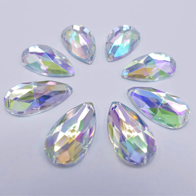 Acryl - Drop Sewing stone - Crystal AB