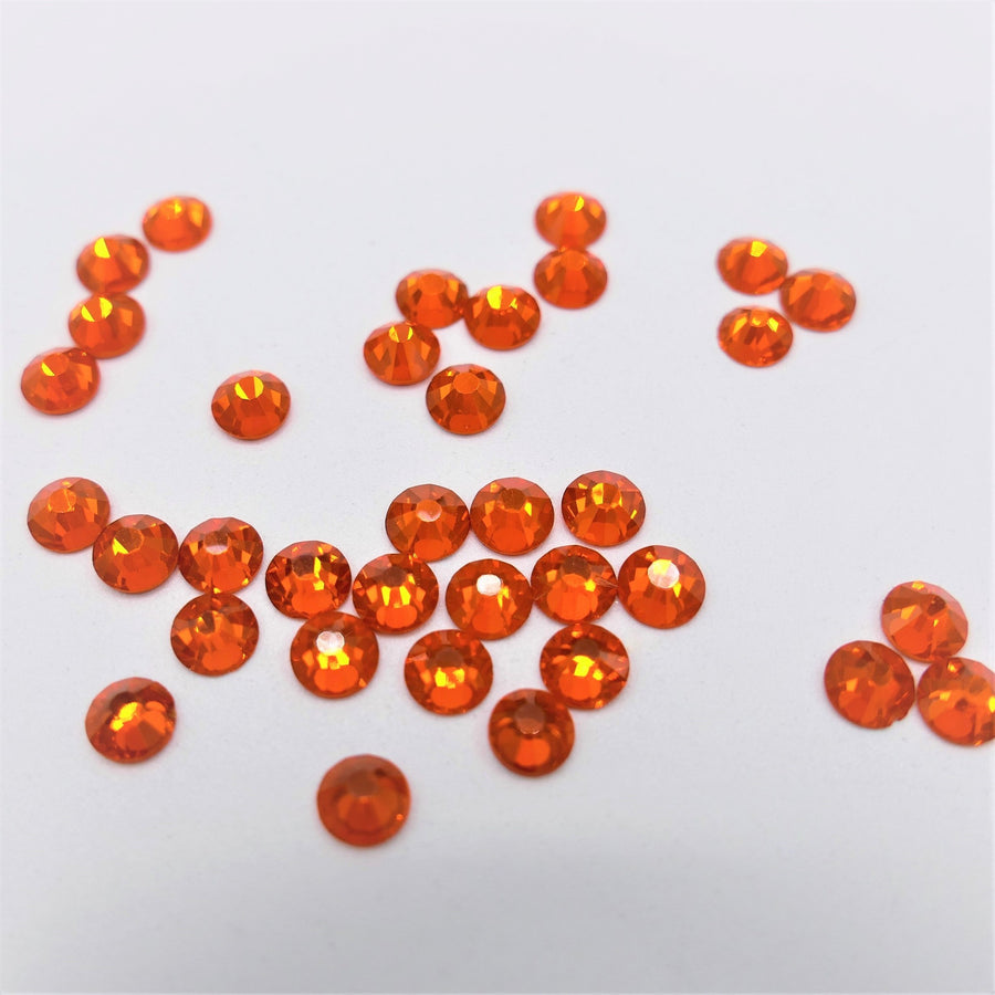 Orange - Rhinestone - Non-Hotfix