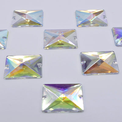 Acryl - Rectangle Sewing Stone - Crystal AB