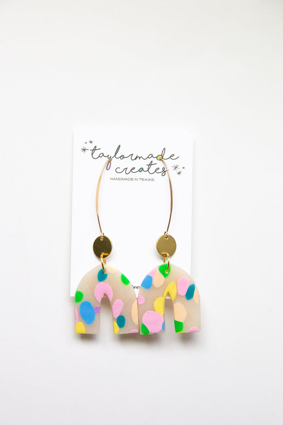 Party Dot Drop Earrings