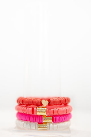 Valentine's Day Stack - Red, Watermelon, Pink & White