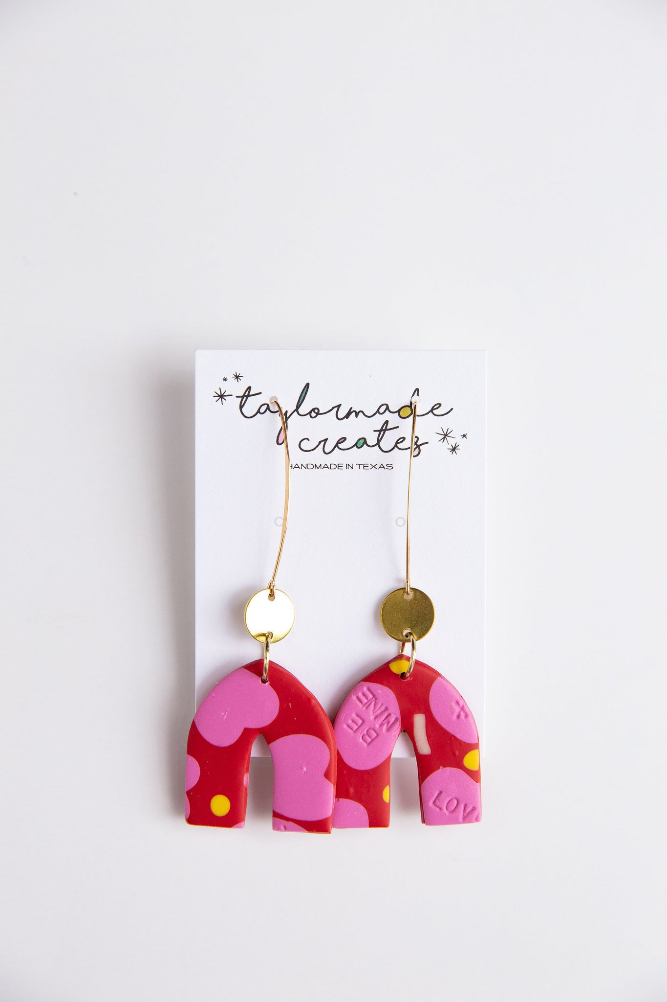 Conversation Heart Drop Earrings