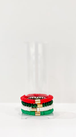 Classic Christmas Stack- Red, Green, Forest & White