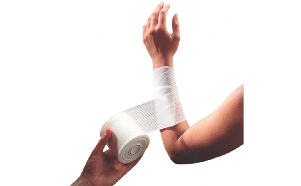 A first aid bandage.