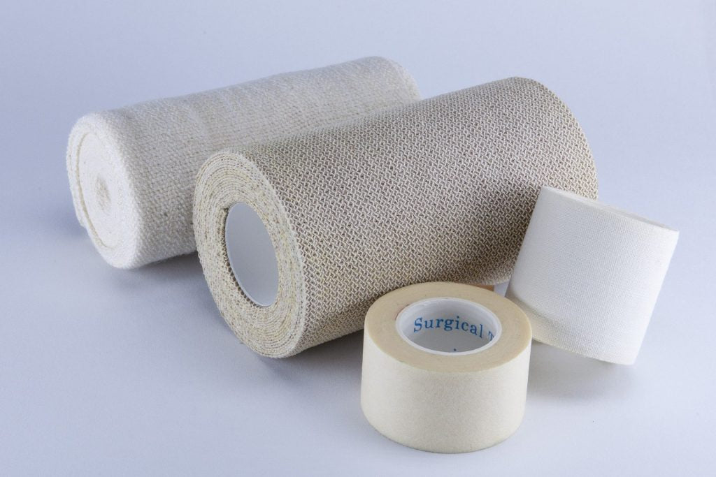 Picture of dressings and bandages.