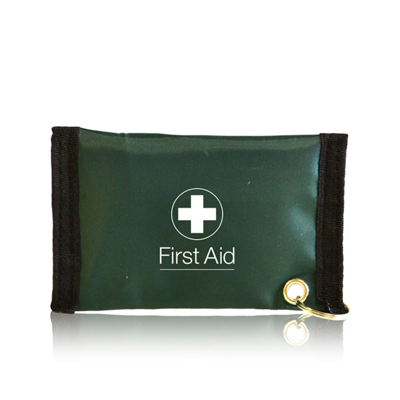 Empty Green First Aid Key Ring Pouch