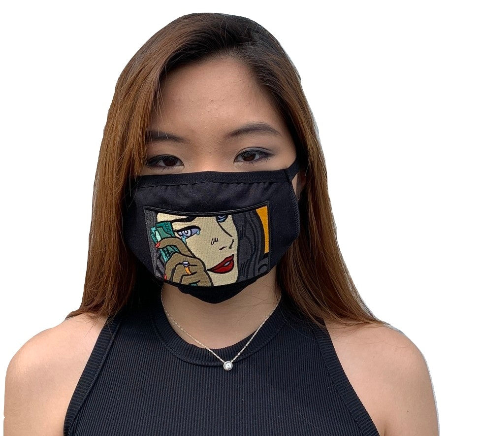 MV Love and Hate Face Mask - Unisex - MVDADHATS