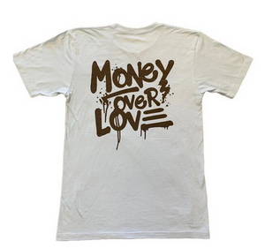 Money Over Love T Shirt L.Blue- Men's