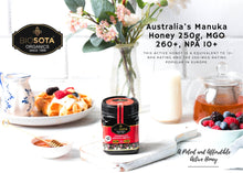 Load image into Gallery viewer, Australian Manuka Honey 250G, MGO 260+, NPA/ULF 10+ Biosota