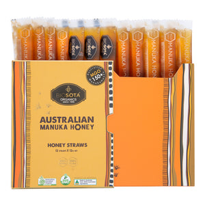 MANUKA HONEY STRAWS (MGO 150+), 12g N.W, QTY 12pcs