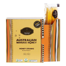 Load image into Gallery viewer, MANUKA HONEY STRAWS (MGO 150+), 12g N.W, QTY 12pcs Biosota