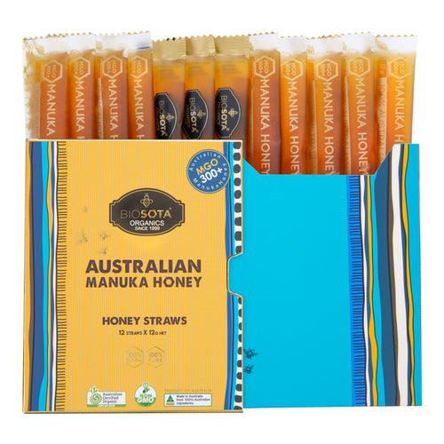 MANUKA HONEY STRAWS (MGO 300+), 12g, 12pcs per Gift box