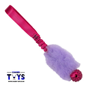 Tiny Tugs Bungee Ball Faux Fur Tugger