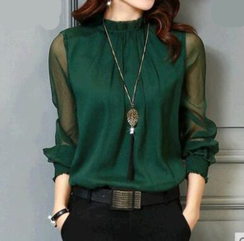 Chiffon Blouse New Women!