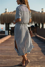 Load image into Gallery viewer, Ladies Stripe Shirt Dress