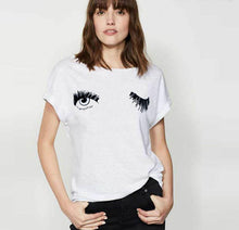 Load image into Gallery viewer, Wink Print T-Shirt for Women
