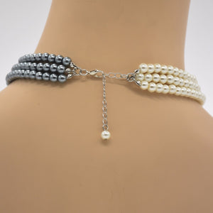 Grey & White Pearl Necklace