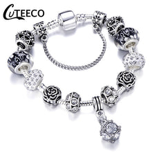 Load image into Gallery viewer, Silver Charms Bracelet with various beads