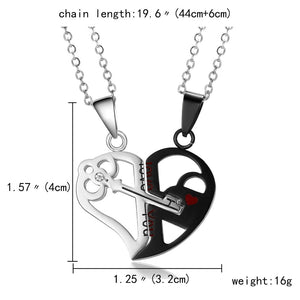 'Two Make a Whole' Heart Pendant