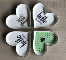 Load image into Gallery viewer, Heart-Shaped Porcelain Jewelry Plate