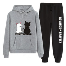 Load image into Gallery viewer, Tracksuit  with Cat Print