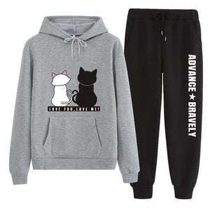 Tracksuit  with Cat Print