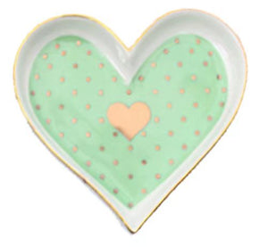 Heart-Shaped Porcelain Jewelry Plate