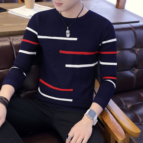 Stitching Men's Sweater
