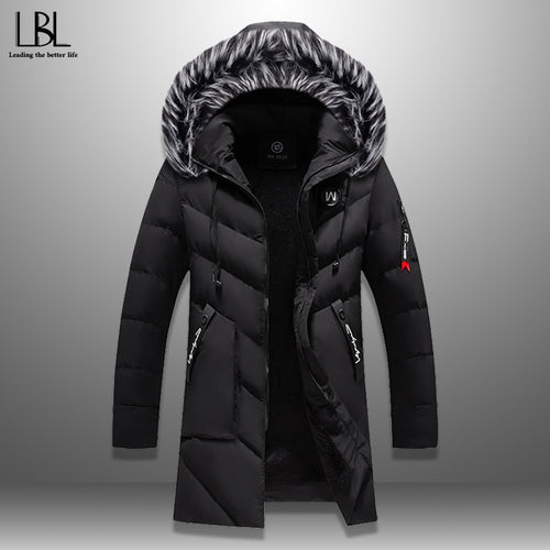 Long Hooded Jacket Fur Collar