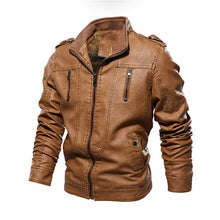 Load image into Gallery viewer, European Windbreaker Genuine Leather Jacket