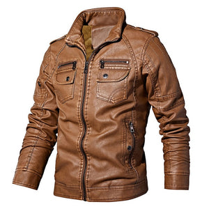 European Windbreaker Genuine Leather Jacket