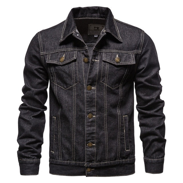 Cotton Denim Jacket  Slim